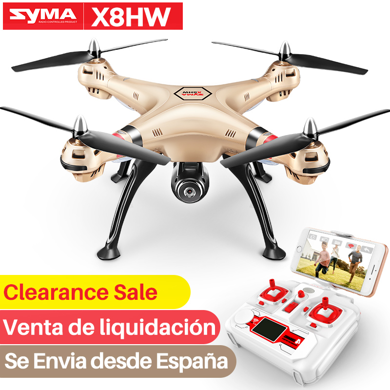 SYMA Official Drone Professional X8HW X5UW RC Drone With Camera HD Wifi FPV RC Helicopter Drones Dron Quadcopter Selfie Drone