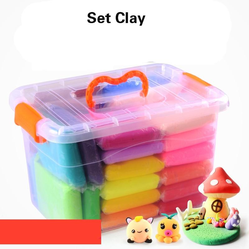 24 Colors 50g/100g Air Dry Super Light Jumpimg Modeling Clay Play Dough Playdough Foam Clay Intelligent Plasticine Polymer Clay pechoin 24 50g