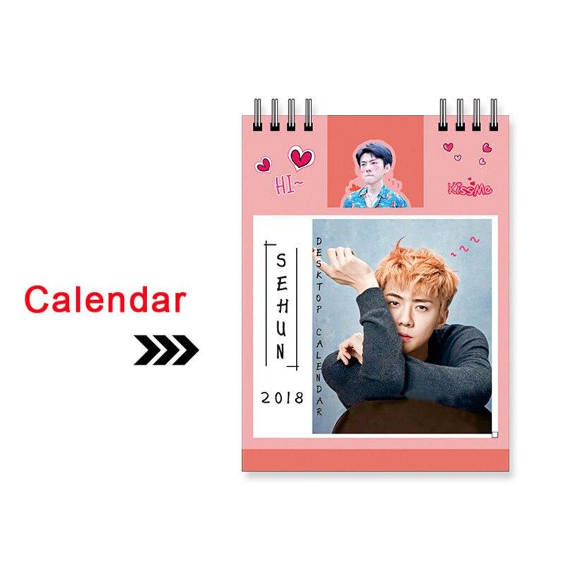 KPOP EXO 2018 Desk Calendar SEHUN Mini Picture Pho
