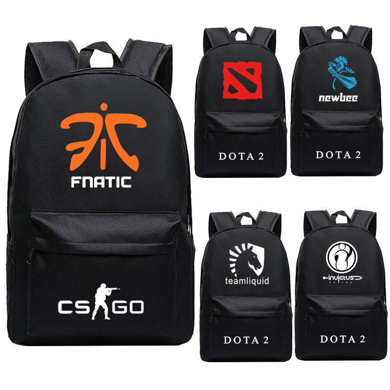 Creative Game Dota 2 CS CSGO Fnatic Virtus.pro Team Printing Men Backpack Canvas Laptop Backpack DOTA Student School Bags