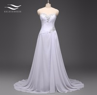 Solovedress Elegant A Line Real Photo Cheap Beach Wedding Dress Sweetheart Chiffon Beaded Bridal Gown Vestido