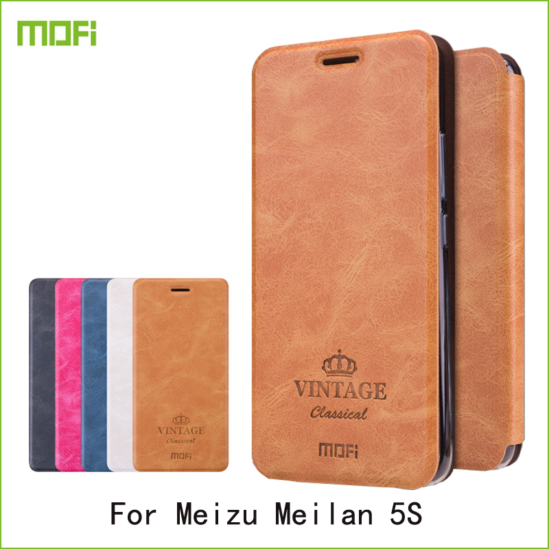 Para Meizu Meilan 5S Meizu M5s caso Mofi Hight calidad Flip PU Funda de cuero para Meizu Meilan 5S libro estilo teléfono celular cubierta