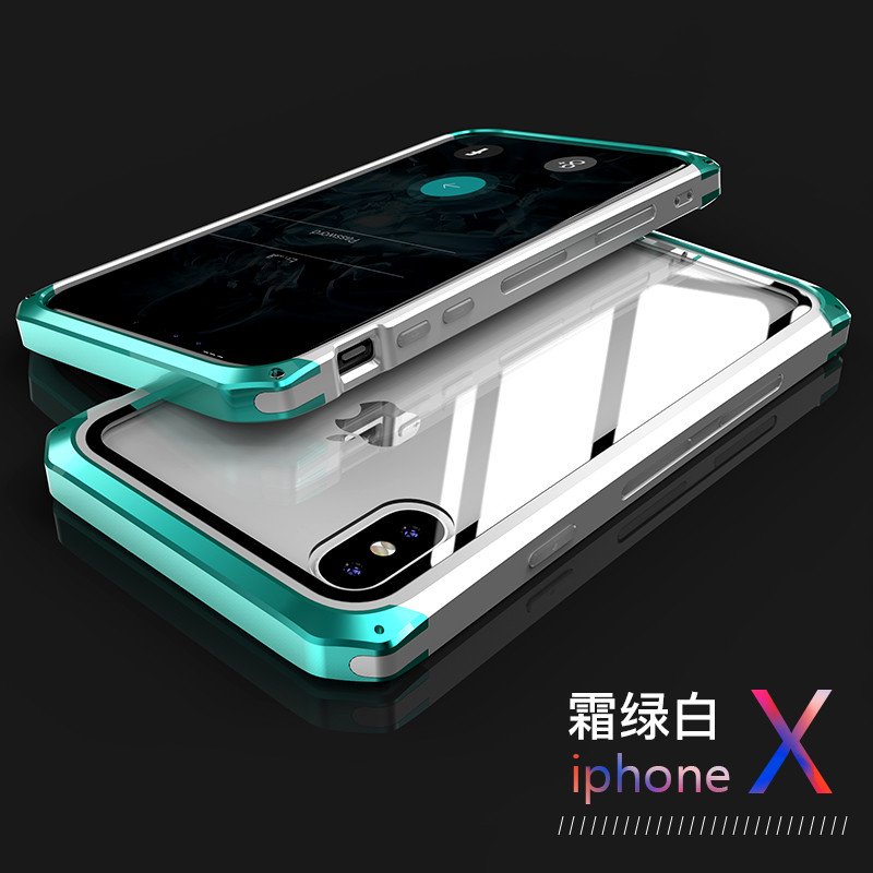For iPhone Xs Max Case Xr X 8 7 Plus Case Smart Color Metal Bumper Clear Glass Guard Panel Cover Ultra Thin Armor Luxury BoxFor iPhone Xs Max Case Xr X 8 7 Plus Case Smart Color Metal Bumper Clear Glass Guard Panel Cover Ultra Thin Armor Luxury Box