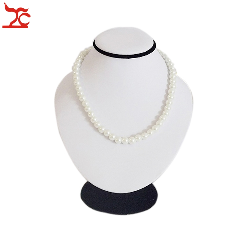 White Pu Handmade Jewelry Display Neckform Necklace Stand