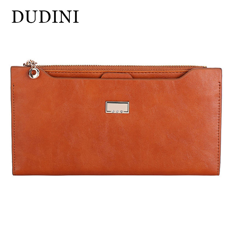 DUDINI PU Leather Women Wallet 5 Colors Zipper Multifunction Long Wallets Ladies Clutch Handbag Cheap Coin Purse Card Holder new multifunction man wallets 3 colors mens pu leather zipper business wallet card holder pocket purse hot plaid pouch fashion