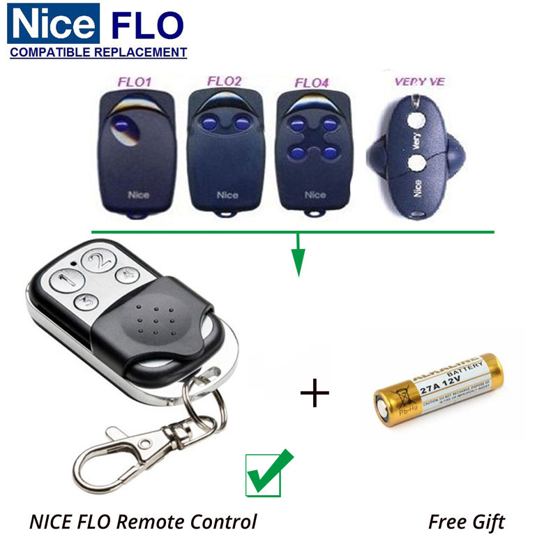 High quality and favorable price! NICE FLO1 FLO2 FLO 4 4channel 433.92MHZ, NICE garage door remote control