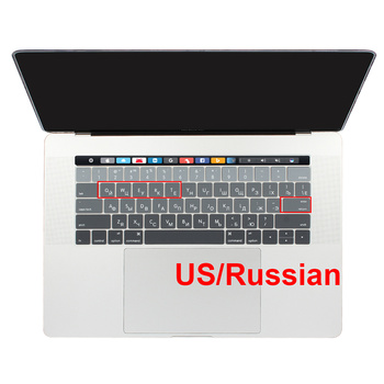 US USA Enter Russian Ukraine Layout Supper Thin Soft Silicone Keyboard Cover for New Macbook Pro 13 15 with Touch Bar 2016 2017