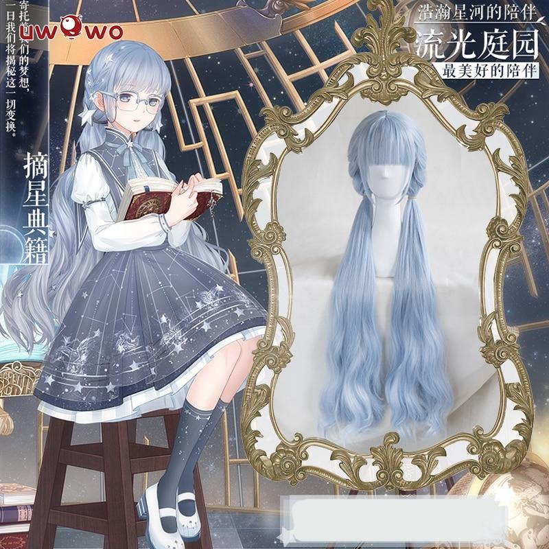 UWOWO чудо Nikki парик Синие Длинные Волнистые жаропрочных синтетических волос чудо Nikki Косплэй парик