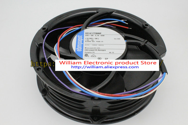 New Original EBM PAPST 6314/17TDHHP 17cm 24V 2.67A large wind cooling fan new original ebm papst w1g180 ab47 01 48v 100w 200 70mm inverter cooling fan