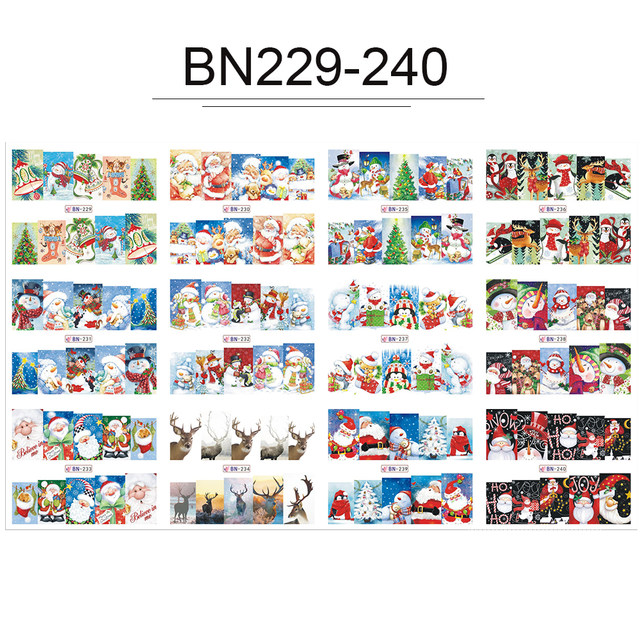 Online Shop 1 Set Winter New Year Designs Colorful Glitter Christmas - watermark christmas