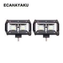 ECAHAYAKU 2 PCS 5 inch LED Work Light Bar 12V 54W Auto DRL Lights for Off road 4x4 4WD Car Truck SUV VAS car styling ATV led bar