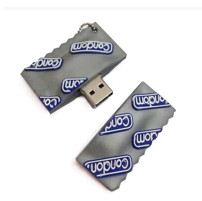 Condom style usb flash drive 4G 8G 16G 32G USB 2.0 memory stick