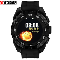 Curren Smart Phone Watch Men Watch Heart Rate Step Counter Stopwatch Ultra thin Bluetooth Wearable Devices Sport For IOS Android