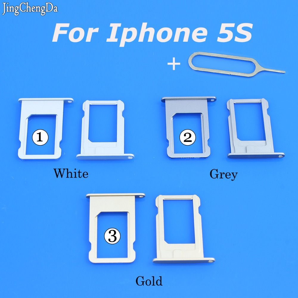 Jing Cheng Da SIM Card Tray Holder Slot Replacement Adapter for Iphone 5s 5 S Repair Parts Gold Gray White