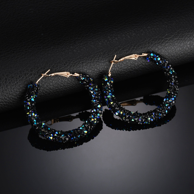 Crystal Big Hoop Earrings For Women Punk Brincos Fashion Jewelry Bijoux Geometric Circle Earring pendientes mujer European-in Hoop Earrings from Jewelry & Accessories on AliExpress