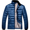 New Arrival Men Winter Stand collar Down Jacket 90% White Duck Down Jackets Men Outdoors Parka Warm Coat Black/Blue