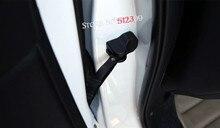 4* Plastic Car Door Stop Arm Tuerfeststeller Trim for Honda CRV CR-V 2017 2018 Car Styling