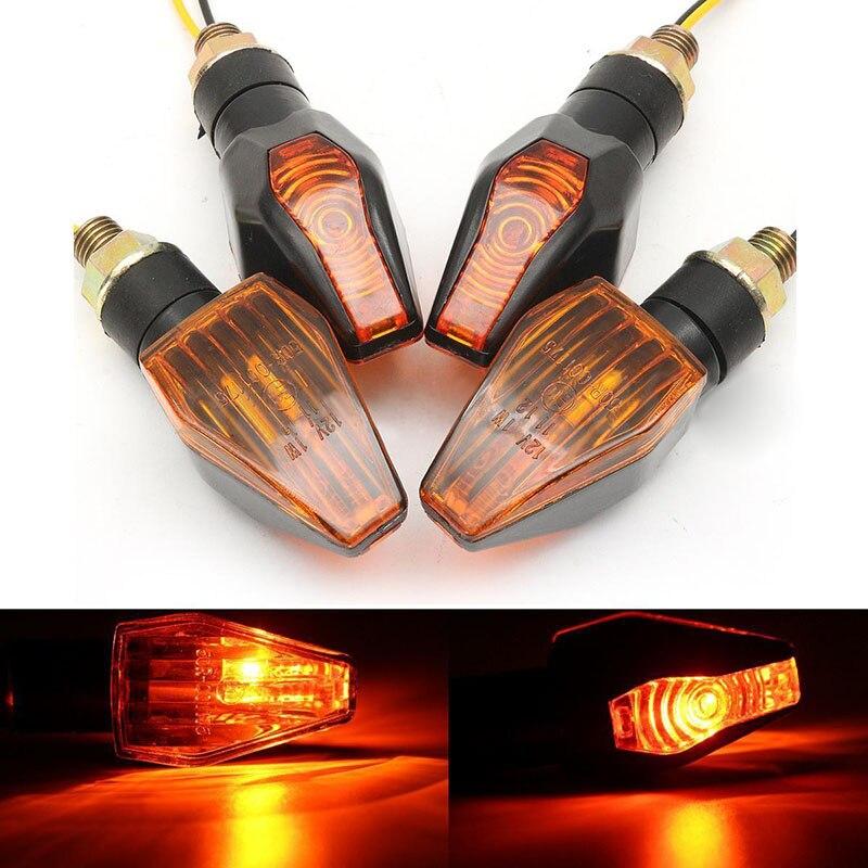 Mayitr Neue Heiße 4 stücke Universal Motorrad Bike LED Blinker Leuchtmelder Blinker Bernstein Lampe Schwarz Shell + PC objektiv