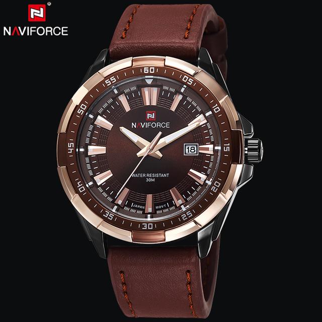 NAVIFORCE Original Brand Fashion Mens Watch Quartz Watch Men Waterproof Wrist watch Military Clock relogio masculino