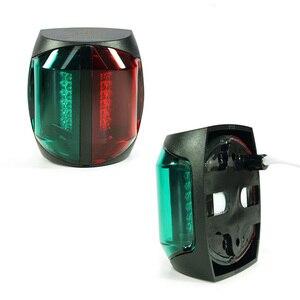 Image 3 - 12 V łódź morska Bi kolor światła czerwony zielona dioda LED Navigator lampa akcesoria do łodzi