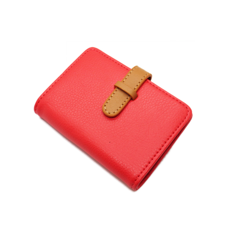 pu leather porte carte credit card wallet women female girl business ...