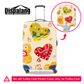 Elastic 3D Big Heart Print Luggage Protective Covers Girls Cartoon Waterproof Luggage Protective Covers For 18-30 Inch Suitcase
