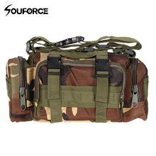 Outdoor Hunting Bag Leisure Handbag Camouflage Tactical Bag Camera Bag Sport Shoulder Hiking Tavelling Pockets Fishing Waist Bag tactical hunting trail camera for outdoor sport os37 0034