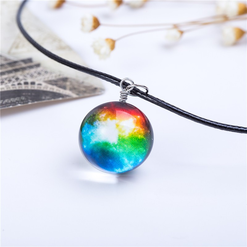 HTB1EdVPKVXXXXbQaXXXq6xXFXXX5 - Collares Duplex Planet Crystal Stars Ball Glass Galaxy Pattern