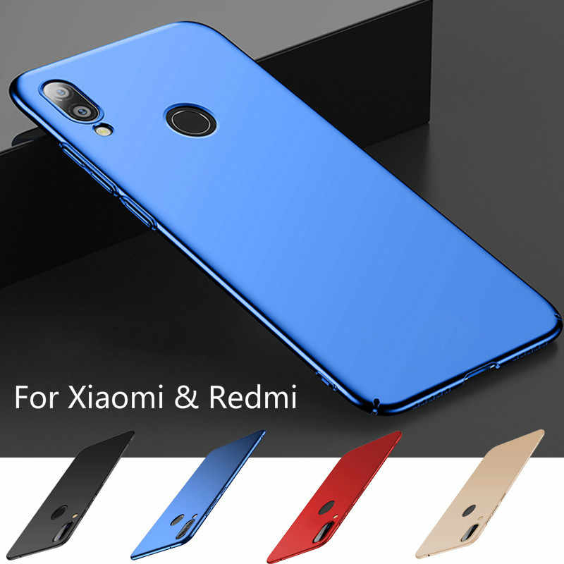 Matte Hard PC Plastic Case for Xiaomi Mi A2 Lite Redmi 7 Cover On Redmi K20 Note 7 6 5 Pro 4X 5Plus 6A 6Pro Back Phone Case Capa