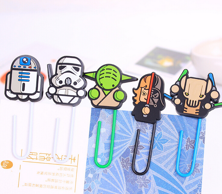 MQStyle 1Pcs New Novelty Star Wars Paper Clip Bookmark Promotional Gift Stationery School Office Supply H1093