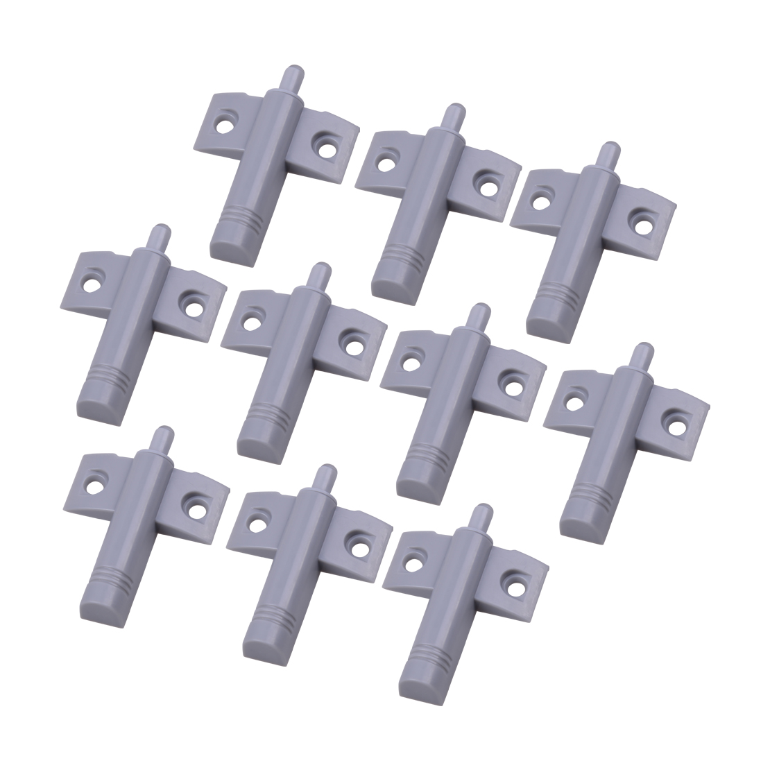LETAOSK New 10pcs Grey Soft Close Silence Stop Closer Cushion Damper Buffer With Screws For Kitchen Door Cabinet Cupboard Drawer
