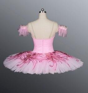 Image 5 - Azul real pássaro yagp profissional ballet competiton tutu saia feminina rosa clássico panqueca tutu traje vestido