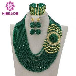 Image 1 - Splendid Nigeria Wedding Hạt Trang Sức Set Choker Necklace Set Phụ Nữ Châu Phi Bridal Jewelry Set Mới Miễn Phí Tàu GS217