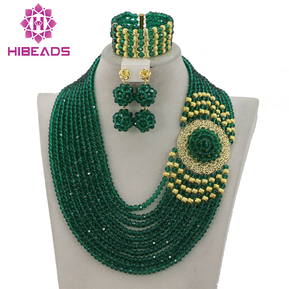 Bridal & Wedding Party Jewelry Jewelry & Watches New Nigerian Women Wedding Beads African Jewelry Set Bridal Costume Necklace Set Bright In Colour