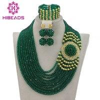 Splendid Nigerian Wedding Beads Jewellery Set Choker Necklace Set African Women Bridal Jewelry Set New Free Ship GS217