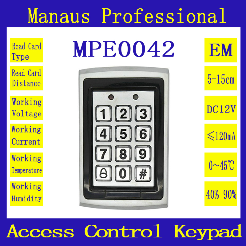 Metal Proximity 1000 Users RFID Door Controller Waterproof Password Keypad Access Control 125KHZ ID Card keyboard System E42a smartbuy one 214 k black мышь проводная