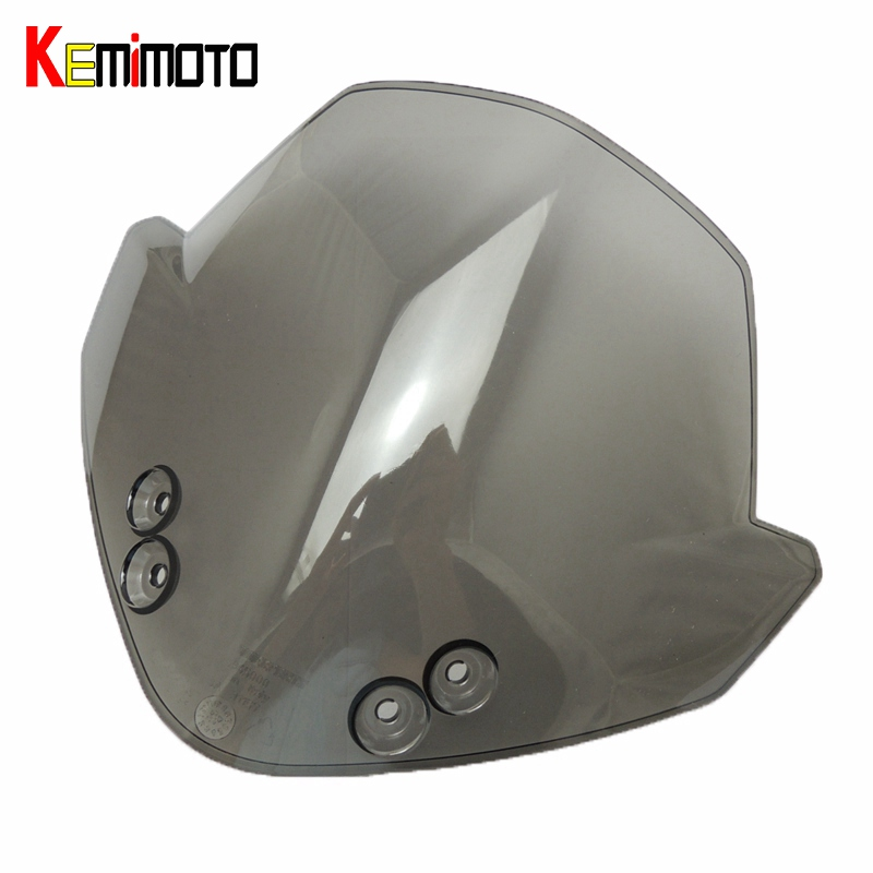 KEMiMOTO For KTM Duke 125 200 390 Windscreen RC125 RC200 RC390 Smoke Smoked Windscreen Windshield Wind Screen Headlight Cover kemimoto for ktm 125 200 390 for ktm duke rc390 rc125 rc200 wind screen smoked motorcycle windscreen windshields headlight cover