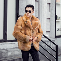 Men S Real Fox Fur Coat 2016 Winter New Fashion Men S Natural Fur Coat Turndown