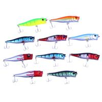 10pcs Fishing Popper Lure Hard Fishing Baits Top Water Lure Saltwater Fishing Bait Artificial Bait For