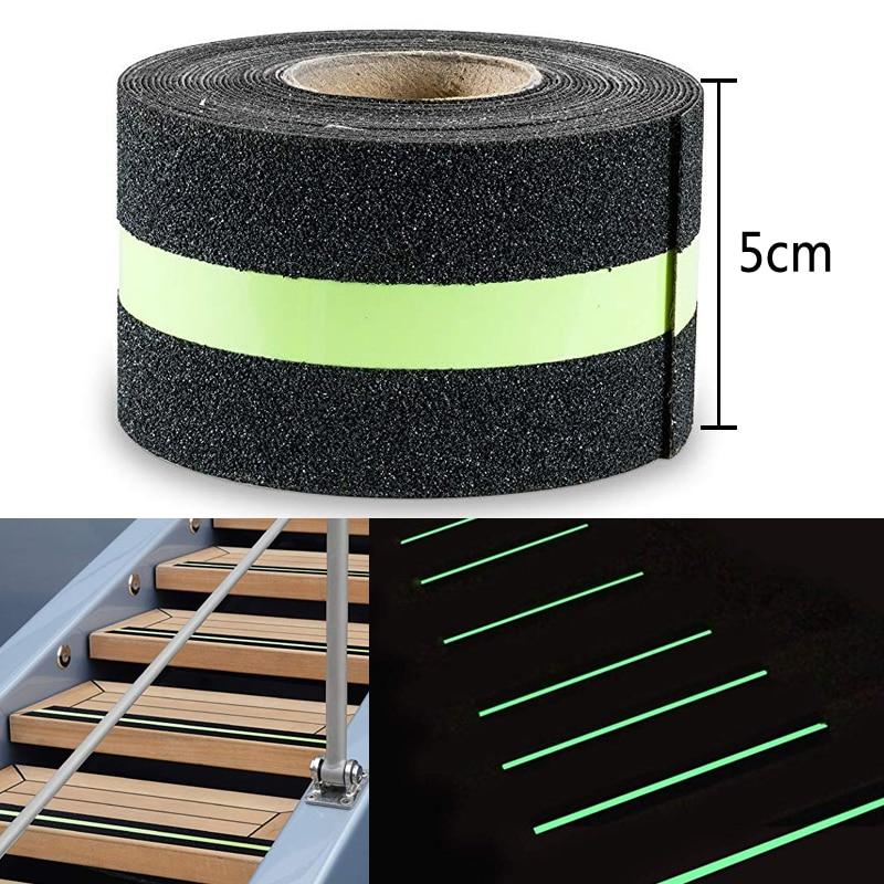 50 mm de largeur brillent dans le noir ruban adhésif semi-lumineux givré anti-dérapant pour la sécurité