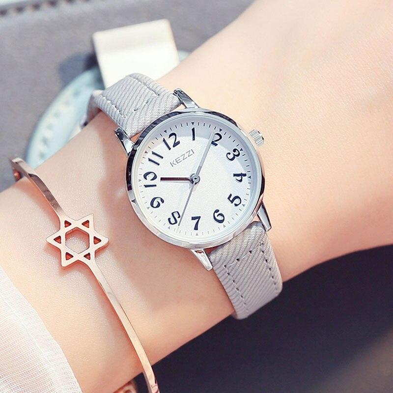 KEZZI Petit Montres pour Femmes Casual Petit Cadran Étanche Femmes Montre-Bracelet Étudiants De Mode Montre-Bracelet relojes mujer 2018