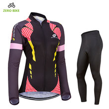 ZEROBIKE Long sleeves Women MTB Bike Cycling Clothing Breathable Quick-Dry Bicycle Wear Ropa Ciclismo Cycling Jersey Pants Sets