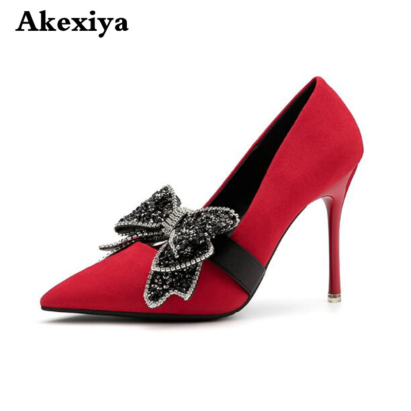 2018 spring and summer new fashion pointed high heels nightclub sexy thin with shallow mouth shoes
