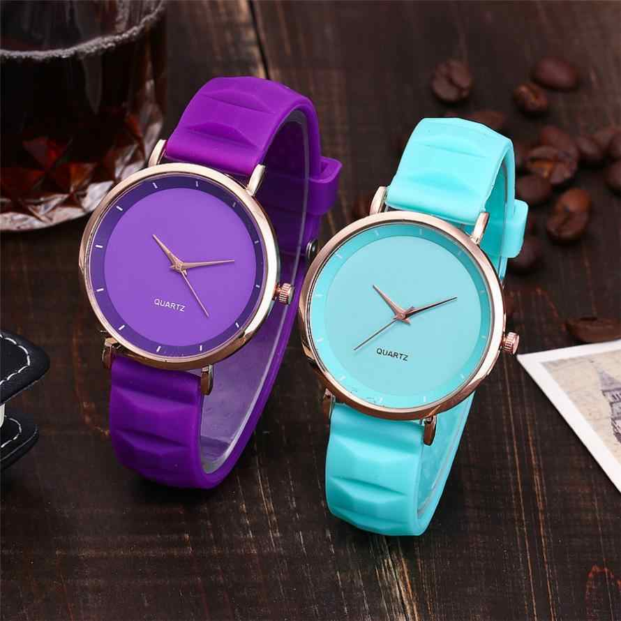 reloj mujer Casual Quartz women watch Silica Gel Band Newv Strap Watch Analog women Wrist Watch bayan kol saati