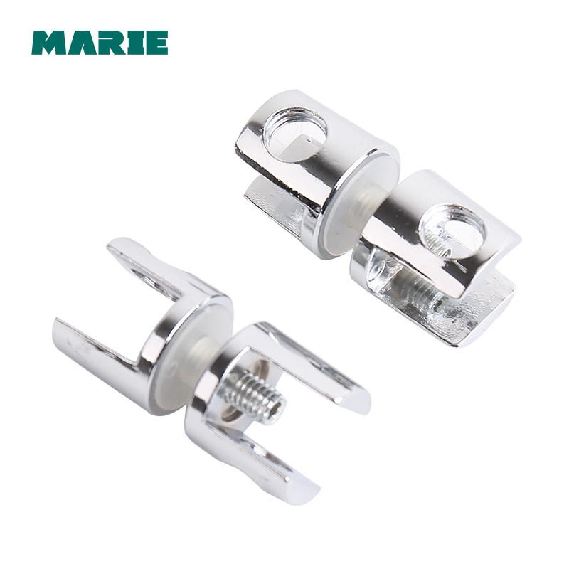 Shower Door Zinc Alloy Glass to Glass Clamp Clip Hinge for 10mm 12mm Glass in Glass Clamps from Home Improvement
