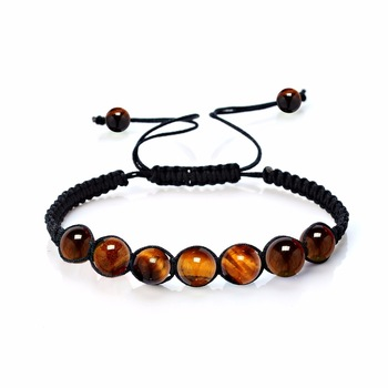 Bracelet Shamballa Tibetain Oeil De Tigre