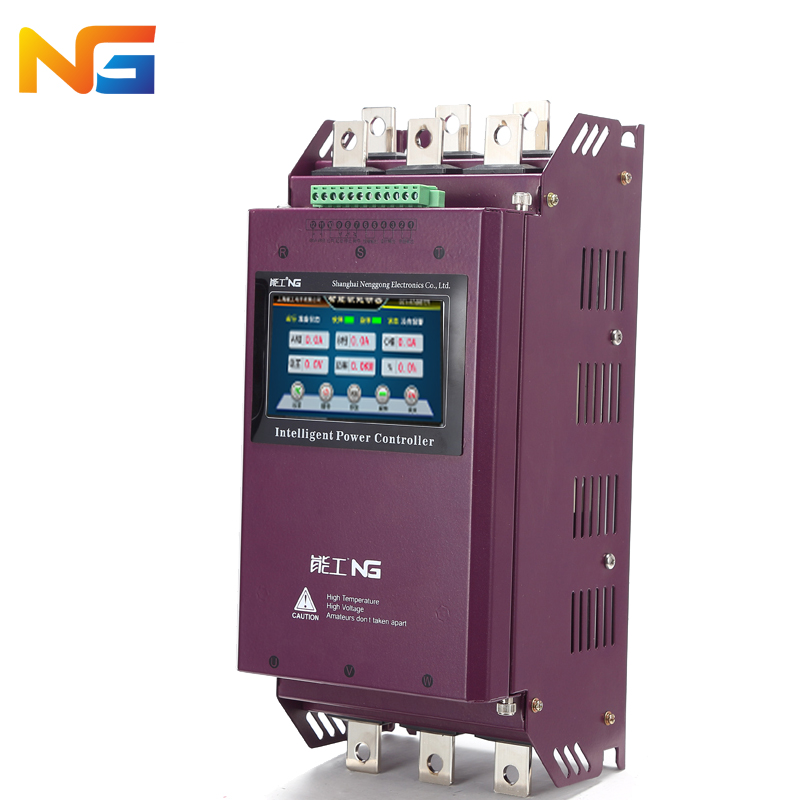 Color screen 55 kw three-phase motor soft starter crusher motor pump fan intelligent soft start control cabinet nenggong