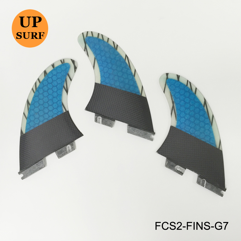 Hot Sale FCS II G7 Fin Fiberglass Honeycomb Fins Carbon Fiber Blue Fin FCS2 G7 Fins top quality orange color fcs ii g7 l surfboard fins made by carbon and honeycomb tri set fcs 2 l thruster fin