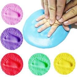 Детские руки след производители младенческой 8 цветов сушка мягкая глина 3D отпечатков пальцев производители отпечаток Наборы