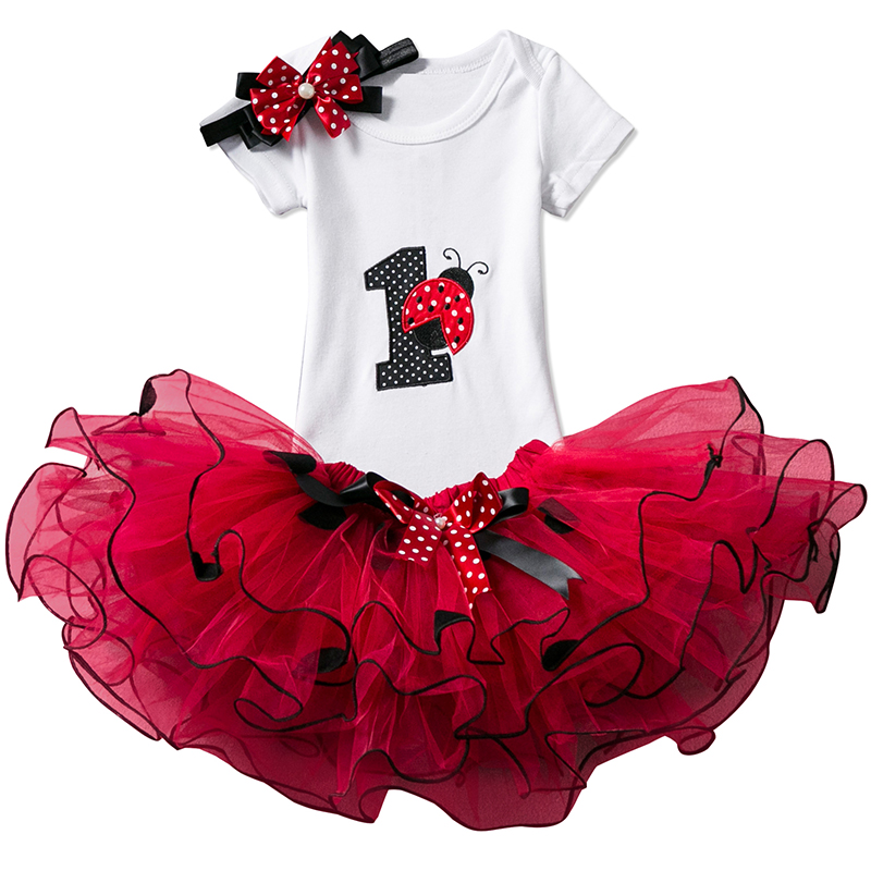 Baby First Party Christening Gown Dots 1 Year 2 Years Birthday Outfits Infant Party Dress Baby Tutu Tulle Toddler Girl Clothes